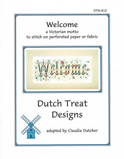 Dutch Treat Designs Welcome cross stitch pattern