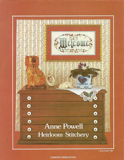 Anne Powell Welcome cross stitch pattern