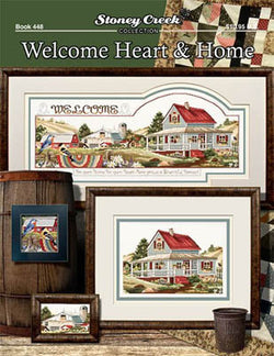 Stoney Creek Welcome Heart and Home BK448 cross stitch booklet