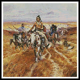 Artesy When the plains were his native american cross stitch pattern