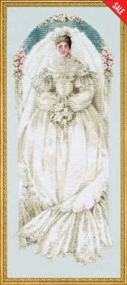Lavender & Lace White Lace L&L40 wedding cross stitch pattern