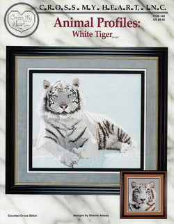 Cross My Heart White Tiger CSB-148 cross stitch pattern