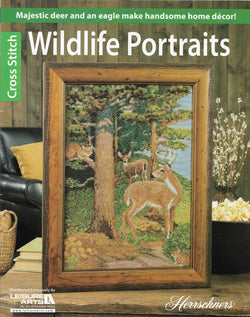 Leisure Arts Wildlife Portraits deer eagle cross stitch pattern