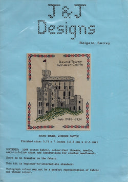 J&J Designs Round Tower Windsor Castle cross stitch kit