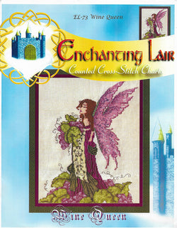 Enchanting Lair Wine Queen EL-73 fantasy cross stitch pattern