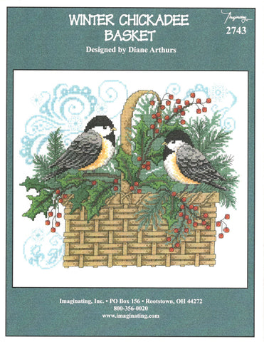 Imaginating Winter Chickadee Basket 2743 cross stitch pattern