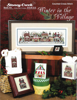 Stoney Creek Winter in the Village BK418 cross stitch pattern
