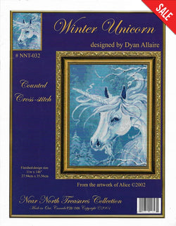 Kustom Krafts Winter Unicorn NNT-032 cross stitch pattern