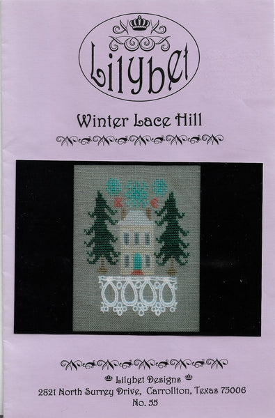 Lilybet Winter Lace Hill cross stitch pattern
