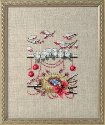 Nora Corbett Winter Nest NC276 bird cross stitch pattern