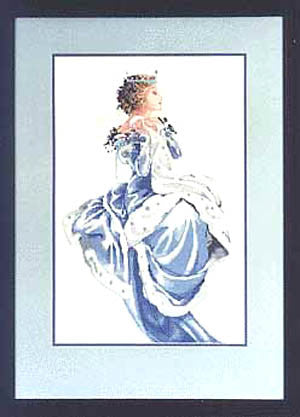 Mirabilia Winter Queen Nora Corbett cross stitch pattern