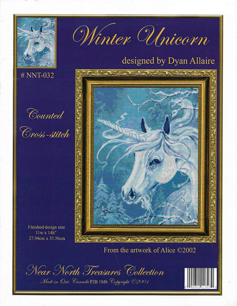 Kustom Krafts Winter Unicorn NNT-032 cross stitch kit