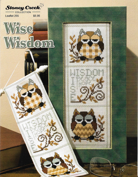 Stoney Creek Wise Wisdom LFT255 owl cross stitch pattern