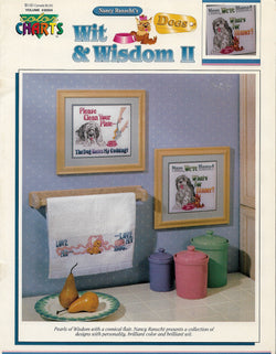 Color Charts Wit & Wisdom II Dogs 30504 Cross stitch pattern