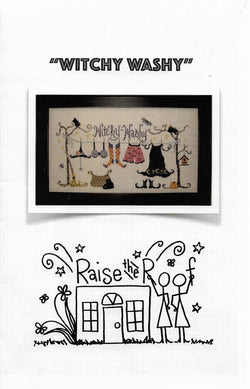 Raise the Roof Witchy Washy Haloween cross stitch pattern