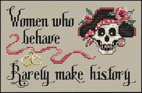 Sue Hillis Women who behave cross stitch pattern