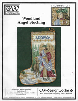 Teresa Wentzler Designworks Woodland Angel Stocking Christmas cross stitch pattern