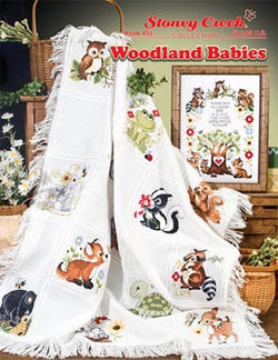 Stoney Creek Woodland Babies BK455 cross stitch booklet