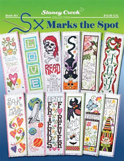 Stoney Creek X Marks the Spot bookmark BK451 cross stitch pattern