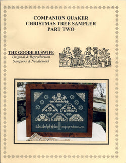 Goode Huswife Companion Quaker Christmas Tree Sampler Part two cross stitch pattern