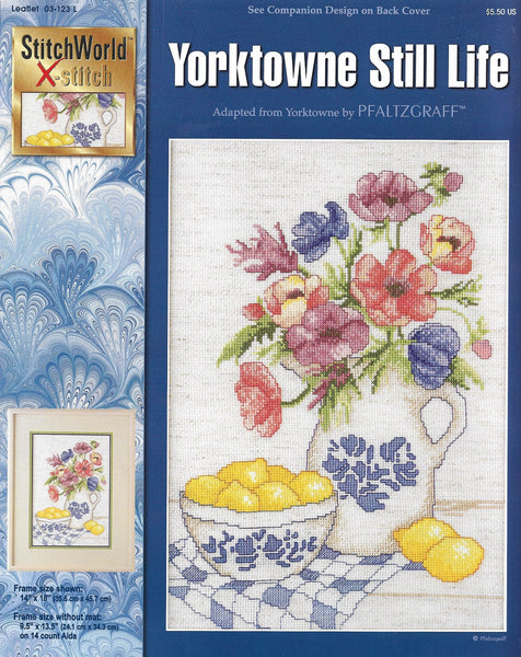 Stitchworld X-Stitch Yorktowne Still Life 03-123L flower cross stitch pattern