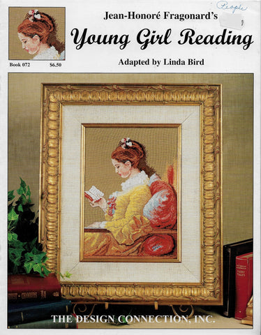Design Connection Young Girl Reading 072 cross stitch pattern