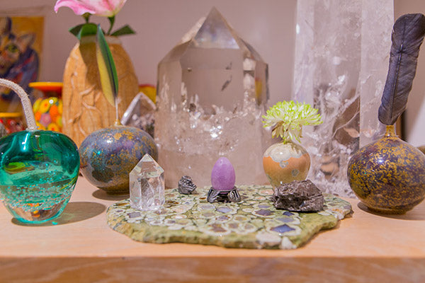 beautiful altar for your yoni egg
