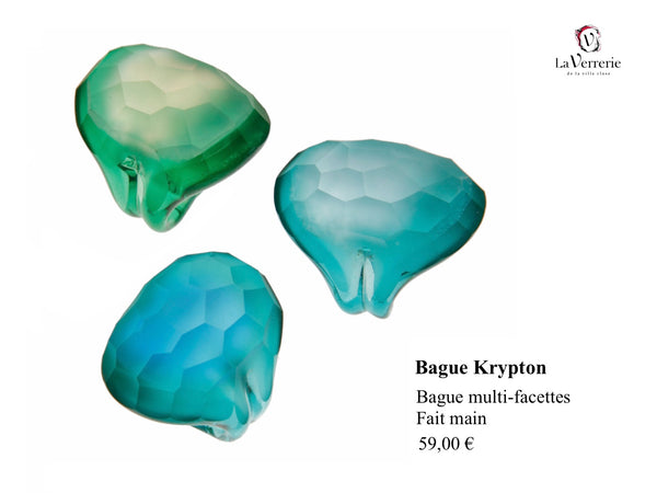 Bague Krypton Bleue-Verte