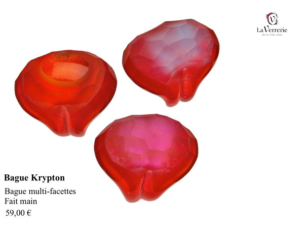 Bague Krypton Rouge