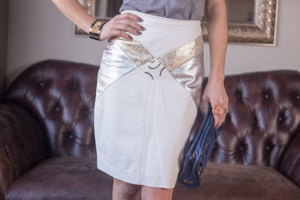 White Hot Leather Skirt