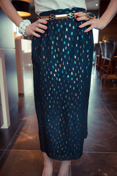 Metallic Lady Pencil Skirt
