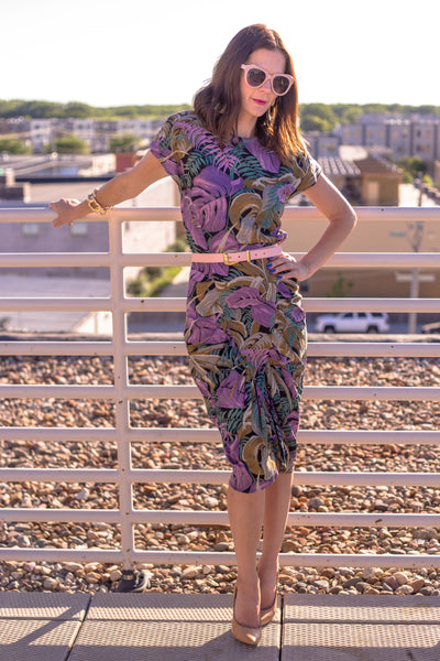Floral Power Midi Dress