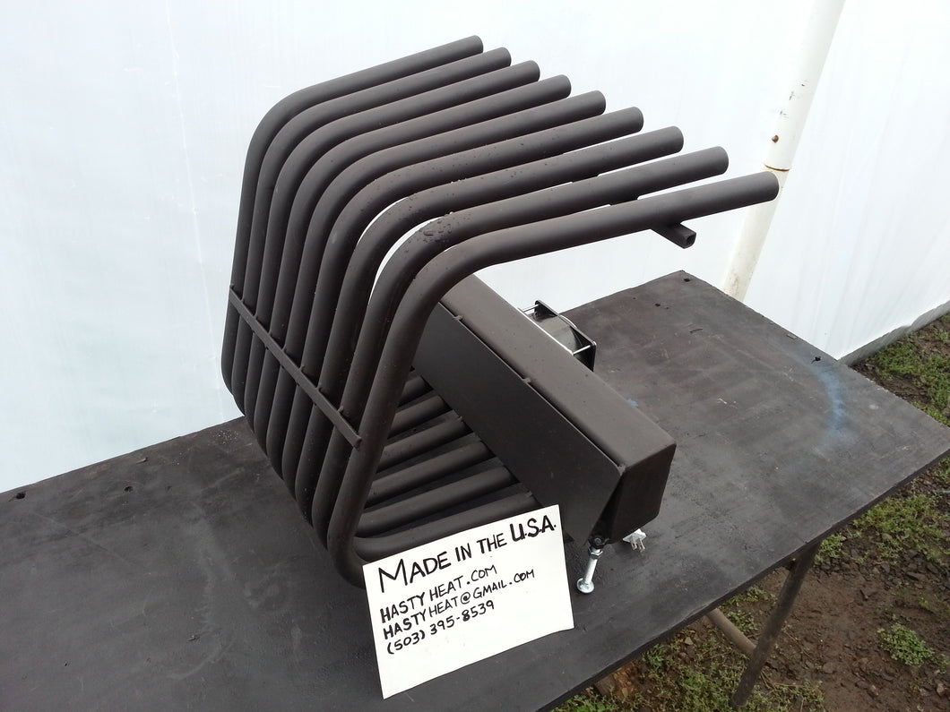 16TGR 14~24TD Tapered Fireplace Grate Heat Exchanger with Blower