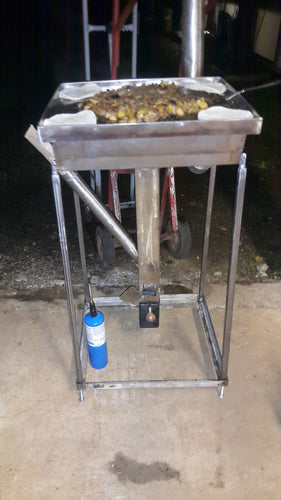 CHP-GD Wood Pellet Rocket Stove Stainless Steel Griddle