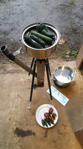 CHP-PC Portable Cooker, Gravity Feed Wood Pellet Rocket Stove