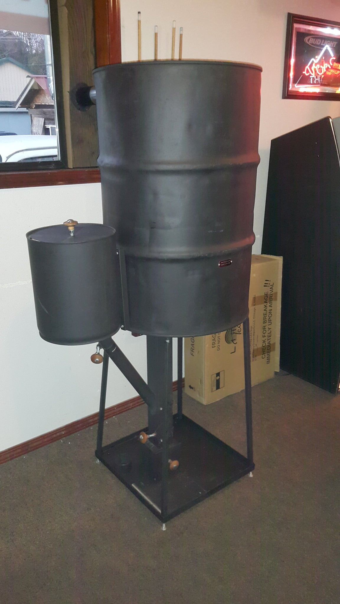 CHP-BS COMPLETE Wood Pellet Rocket Barell Stove Gravity Feed TLUD Mass FAR Infrared Heater