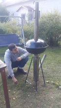 CHP-BQ BBQ Grill, Gravity Feed Wood Pellet Rocket Stove
