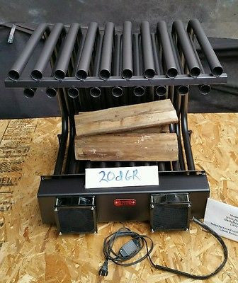20DGR24TD Double Row Fireplace Furnace Grate Heat Exchanger Fireback Blower