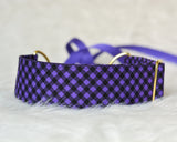 Purple & Black Gingham Halloween