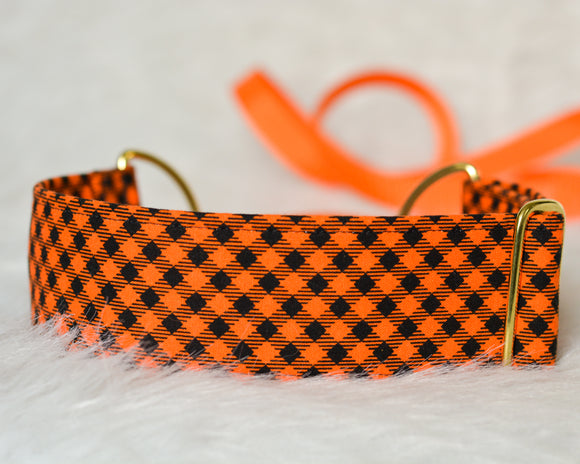 Orange & Black Gingham Halloween