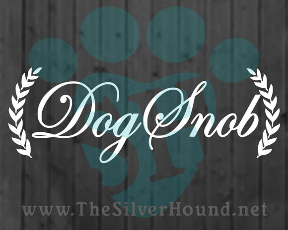 Dog Snob w/Wreaths (Decal)