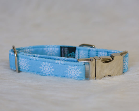 White Snowflakes on Light Blue