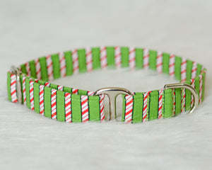 Candy Cane Stripes on Green