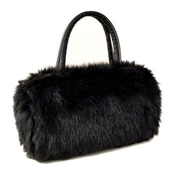 Fashion Handbags Faux Fur Clutch 9 Colors Faux Rabbit Fur Tote Hobo Bag