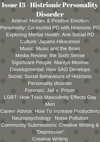 Psych2Go Magazine #13 - Histrionic Personality disorder (Physical)
