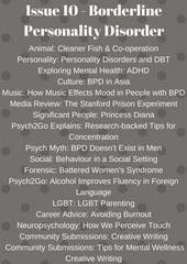Psych2Go Magazine #10 - Borderline Personality disorder (Physical)