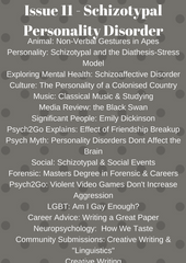 Psych2Go Magazine #11 - Schizotypal Personality disorder Awareness (Digital)