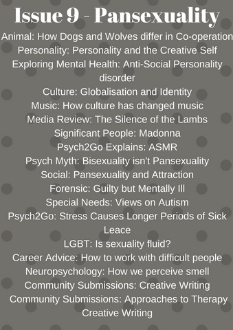 Psych2Go Magazine #9 - Pansexuality Awareness (Physical)