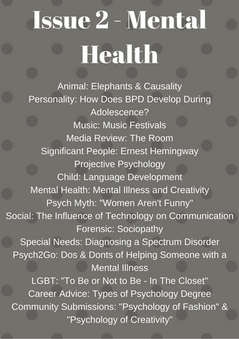 Psych2Go Magazine #2 - Mental Health Awareness (Physical)