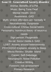 Psych2Go Magazine #14 - Generalized Anxiety disorder (Physical)